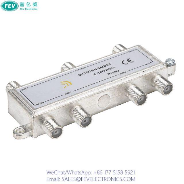 CATV 6WAY SPLITTER FEV-SP109