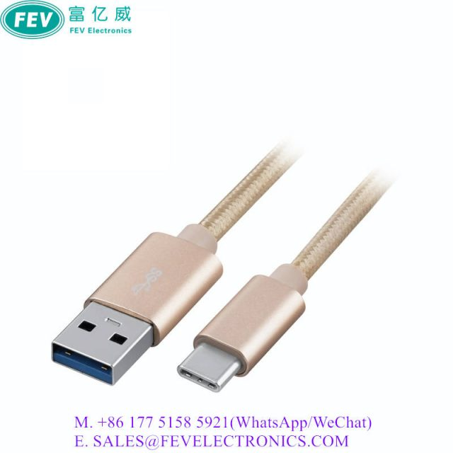 USB CABLE AM TO CM METAL SHELL WITH BRAIDING MESH