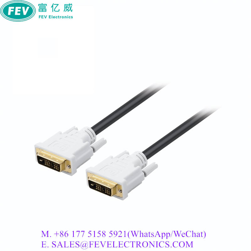 EMI Shielded DVI Cable Male to Male