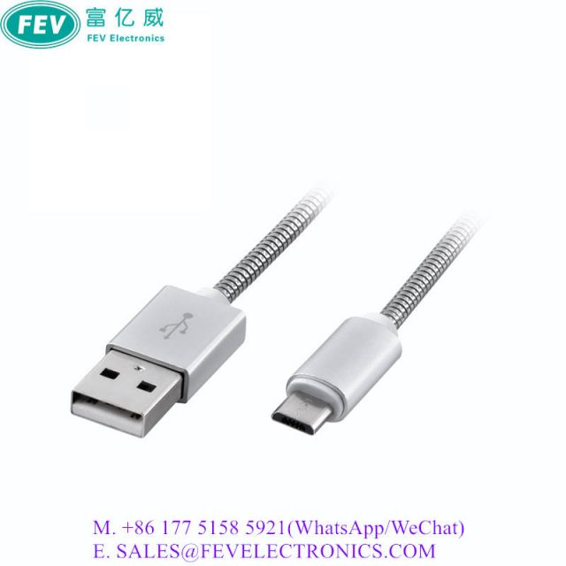 FAST CHARGE USB TYPE-C CABLE 2.0 AM to CM with Aluminum Braid Shell Cable